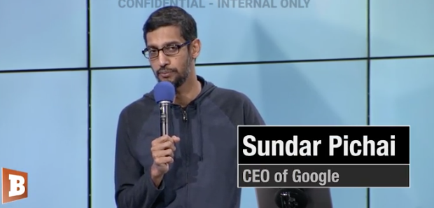 GOOGLE TAPE: Google CEO Sundar Pichai Promised to Fight Fake News, Educate 'Low Information Voters'