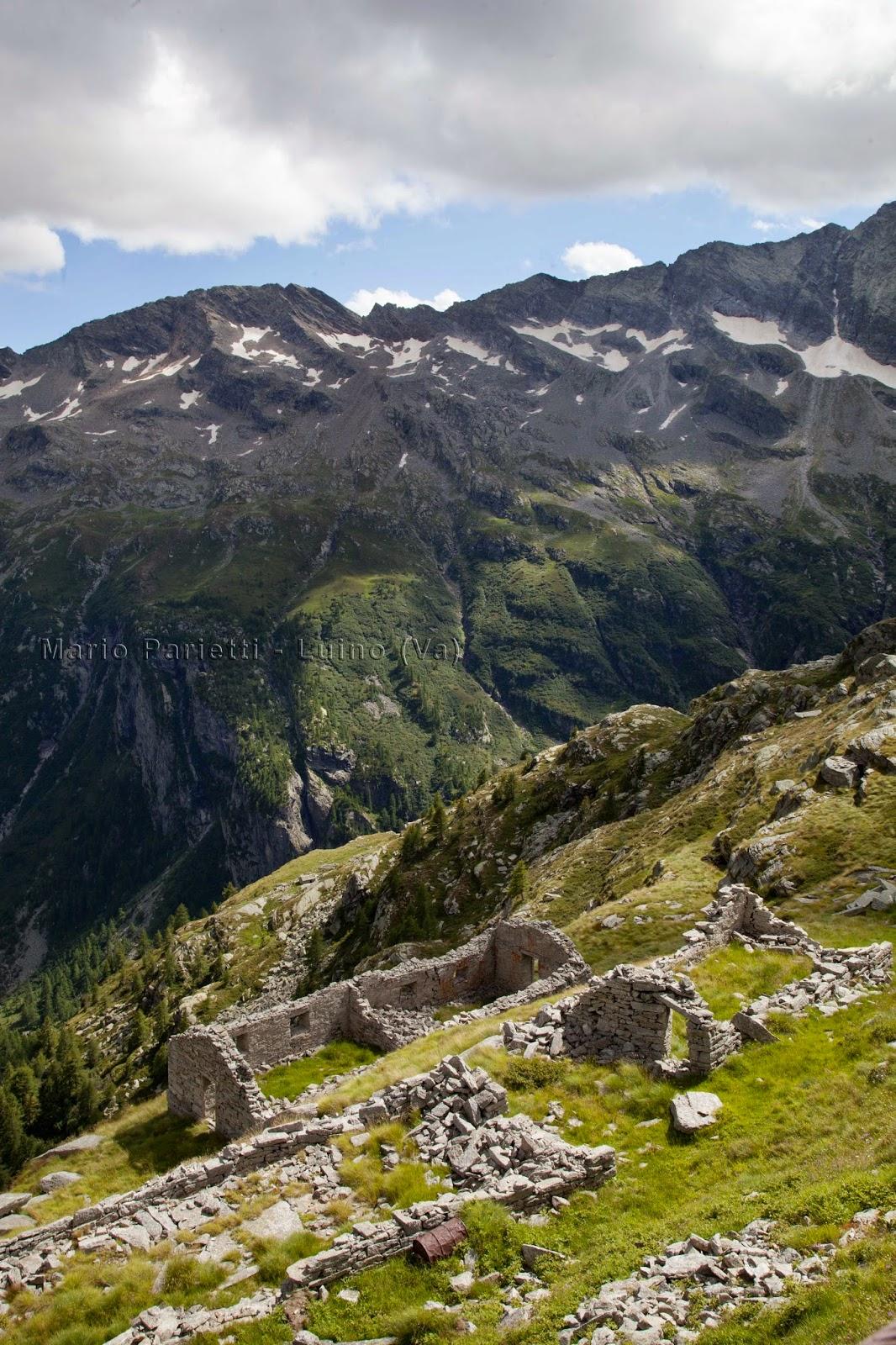 Alpeggio abbandonato sotto il lago di Cingino