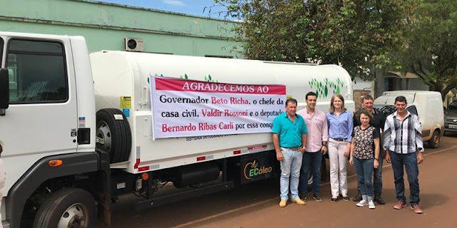 Manoel Ribas recebe caminhão para Coleta Seletiva