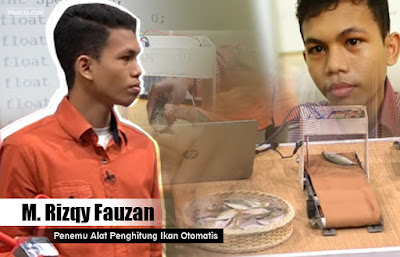 M. Rizqy Fauzan - Penemu Alat Penghitung Ikan Otomatis di Android