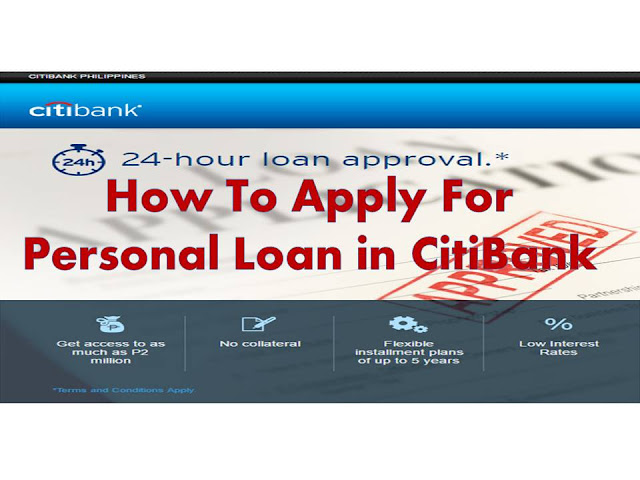Getting a loan can be very frustrating. All the red tape, the requirements and the hustle one needs to go through to secure bank's approval for a personal loan can make the experience very stressful.    For OFWs who have businesses in the country and need a loan to grow your enterprise, the fastest way to get it is by a Citibank loan. For employed applicants who need the extra cash to pay tuition and other fees, Citibank offers a very quick processing time to get your loan approved.   One of the quickest ways to get a personal loan is to apply it at Citibank Philippines. Citibank Philippines offers the quickest processing time for personal loans – only 24 hours! Whether you are a self-employed individual, an employed individual or an OFW who needs extra cash, Citibank Philippines' personal loan program is the easiest way to go.   Am I eligible? To be eligible for a Citibank Philippines loan with a 24 hour processing, you: a.       Must be 21-65 years old b.      Must be a Filipino resident or local resident foreigner with a valid Philippine billing address c.       If Employed, must have a minimum income of Php250,000 d.      Must also have a (12 month) credit card , with no history of delinquencies  How much can I borrow and what are my monthly payments? a.       Know how much you can afford to pay. Check your monthly payments for every loan amount using Citibank Philippine's online loan calculator at https://www.citibank.com.ph/gcb/loans/loan-calculator.htm. b.      Citibank Philippines offers loans to as much as Php 2 million.    How do I apply?  a.       Submit your application via this online form in Citibank Philippines' website: https://www.citibank.com.ph/global_docs/1click/personal-loans-apply-now/index.htm?s=DGSEARCH&ecid=PSGODPHPLAENBC&media=8c4ec9ae-fc1c-1469179247&gclid=CjwKEAjwiMe8BRD0ts3Vtv-ohWgSJAAZurk1QpMD0xZ5u-f7rGQDKjKw3SAOIZ73YgUUf-ZwpNPcRhoCtE3w_wcB. The form will only ask you for your name, contact numbers, email address and annual income. b.      Upon submission of your application, a loan officer from the bank will contact you via phone call within 3 hours. The loan office will then send you the application form and a list of the required documents to your email address.   What are the required documents? A.      Proof of Income :   ·         For employed/President/Gen. Manager/Professional with employer: (any of the following) 1.      ITR 2316 year 2014 with at least 250K in # 21 and signatures in # 56 , 58 ,57 and 59  or 2.     Latest Payslip 1 Month (June 1-15 / 16 - 30, Certificate of Employment if available)  ·         For self-employed (Sole Proprietor)/Professional: 1.      ITR 1701 from the previous year with at least 250K in page 2 #64 and signature over printed name at # 32 in  page 1 2.     Auditor's report and Audited Financial Statements 3.     DTI permit 4.     BIR tax payment slip                (If business is under SEC registration as Self Employed, loan applicant must submit Payslip or ITR 2316)  B.          Clear Photocopy of at least 1 primary ID & 1 secondary ID or  2 primary IDs:                Primary IDs: ·         SSS Photo card (primary ID) ·         Passport (primary ID) ·         Driver's License (primary ID) ·         PRC back to back (primary ID) ·         Postal ID  (photo type card)          Secondary IDs: ·         Company ID (secondary ID) ·         Voter's ID (secondary ID)   a.       Once all the documents have been submitted to the loan officer via email, wait for your approval via phone call within 24 hours.  How do I pay my loan? The payment of the loan is via issuing post-dated checks. The best part is that you will only issue all post-dated checks once. For example if your loan is for a term of 60 months, you will only need to issue all 60 pcs of checks once.                                        ©2016 THOUGHTSKOTO