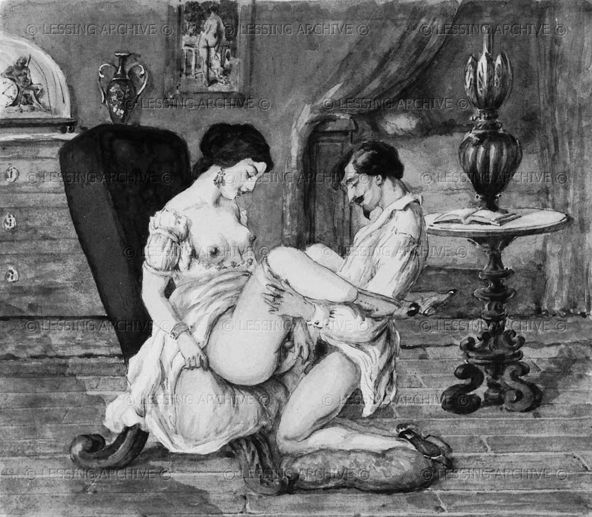 Фото эротика в стиле 18 века