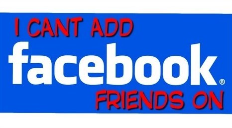 can't add friend on facebook