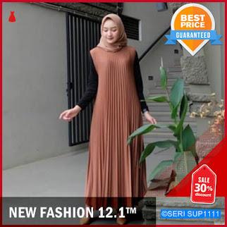 SUP1111Y28 Yoona Long Dress Plisket Gamis Alexa BMGShop