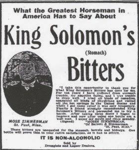 Western Bottle News: KING SOLOMON STOMACH BITTERS