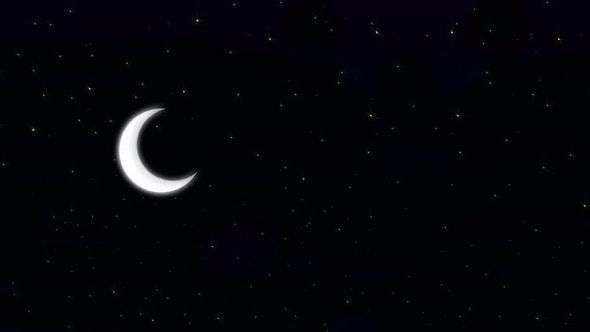 لقطات للمونتاج ـ فيديو لهلال رمضان في ليلة مليئة بالنجوم