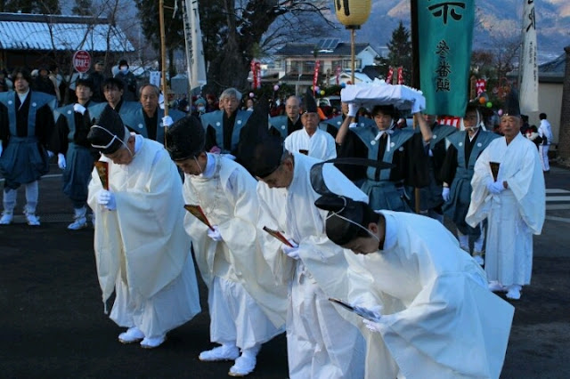 Daito-sai (ceremony for newly-harvested rice), Chikuma, Nagano