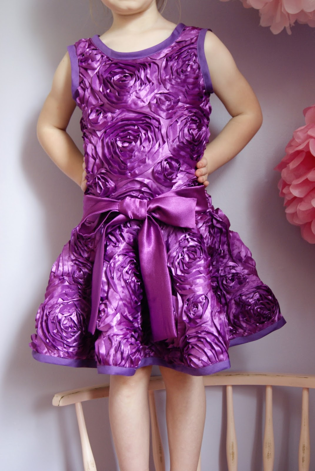 Purple Rose Party Dress by nestfullofeggs