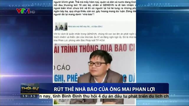 Mai Phan Lợi bị tước thẻ nhà báo - oan ức nỗi gì