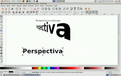 Como criar o efeito perspectiva no Inkscape!