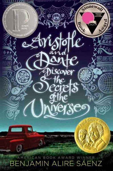 Aristotle and Dante Discover the Secrets of the Universe, Saenz, cover