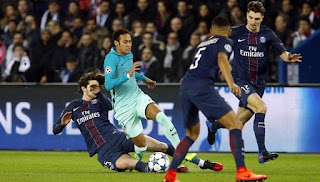 The return match between Barcelona vs Paris Saint-Germain