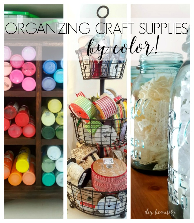organize craft supplies by color