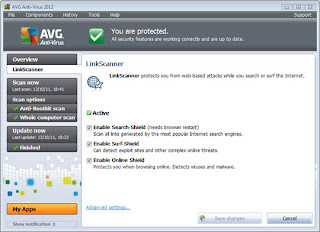AVG Anti-Virus screenshots