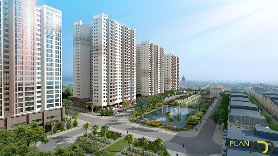 Phối cảnh tổng quan dự án The K Park Văn Phú