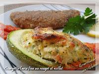 courgette farcie au poisson et millet