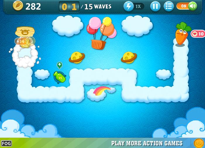 4399 - game bảo vệ củ cải