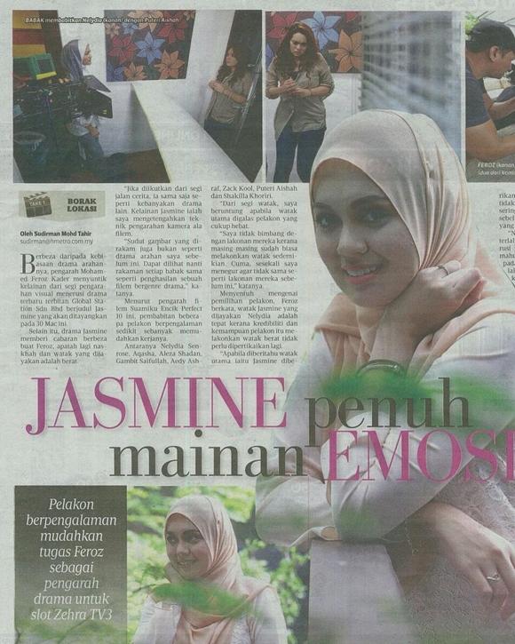 Kisah Jasmine Drama TV3 Penuh Emosi