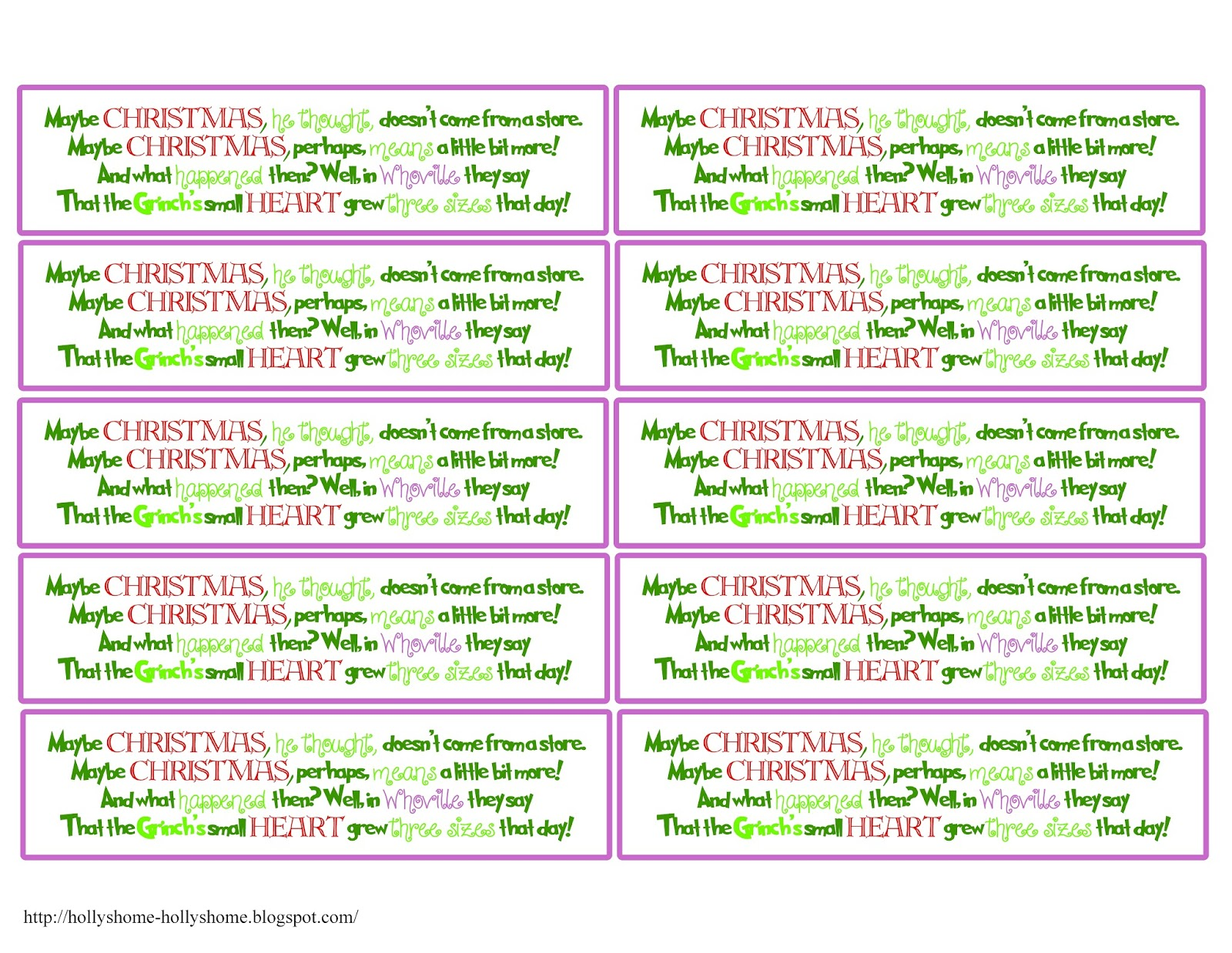 Whoville Printables