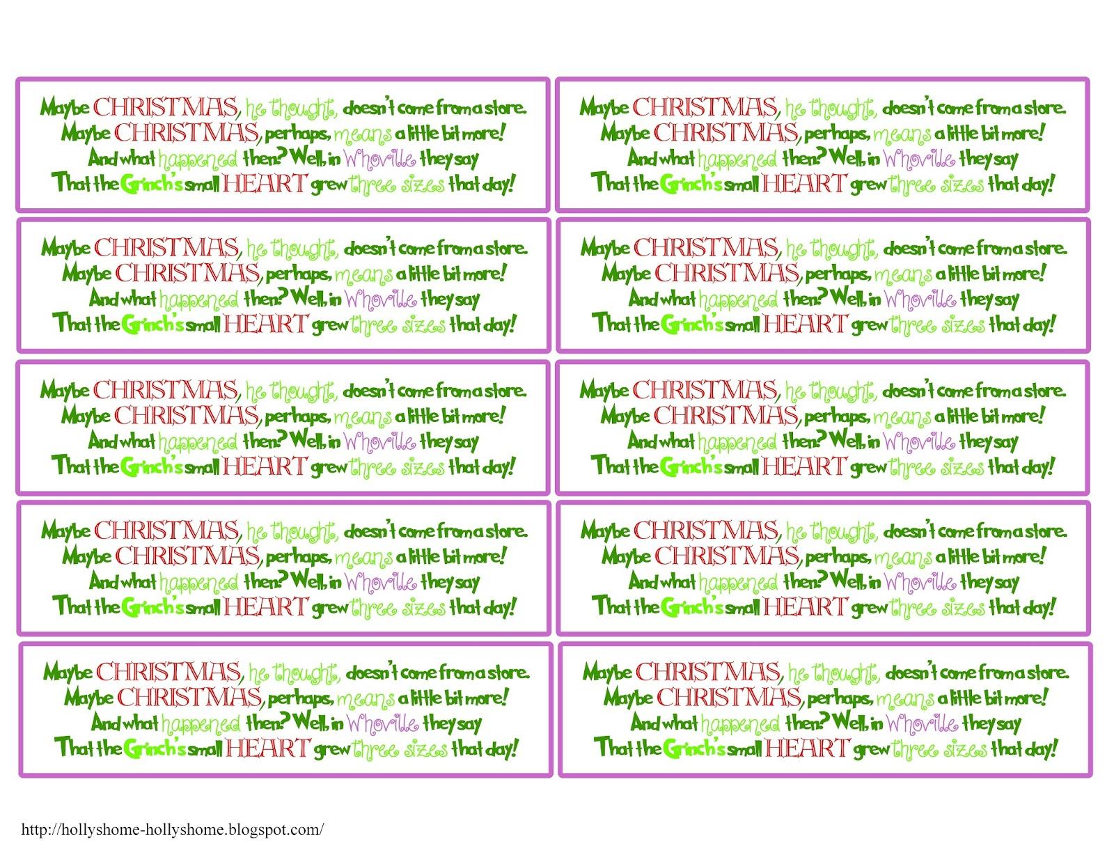 Hollyshome Family Life Free Grinch Mas Printable Treat