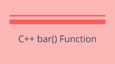 C++ bar() - Draw a Bar Between Two Points