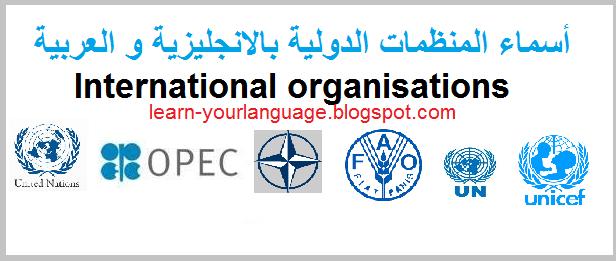 كتب ومراجع في المنظمات الدولية ( حوالي 100 مرجع)