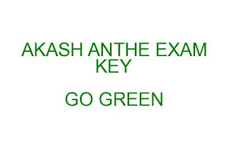 AKASH ANTHE EXAM KEY AND RESULT