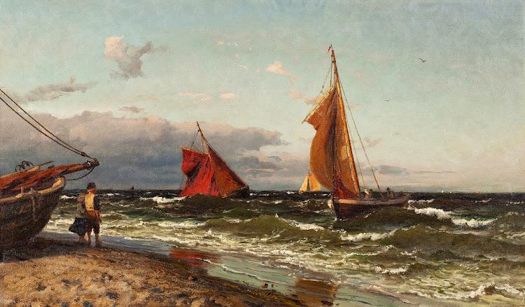 Hans Fredrik Gude - Vid kusten