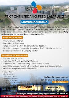 PT. CJ CheilJedang Feed Lampung
