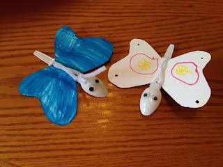 Plastic Spoon Butterflies