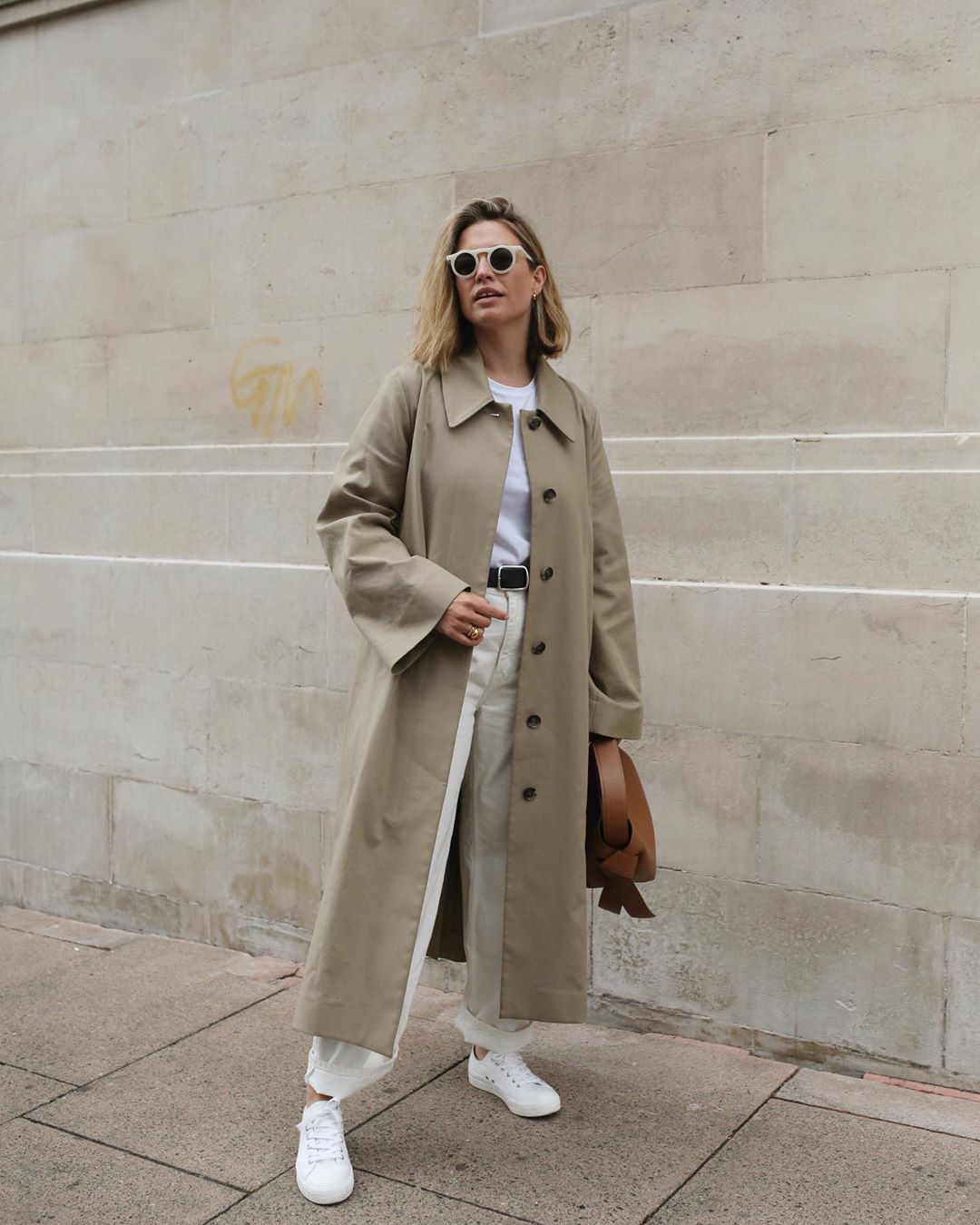 An Off-Duty Take on the Trench Coat for Fall — Instagram Outfit Idea