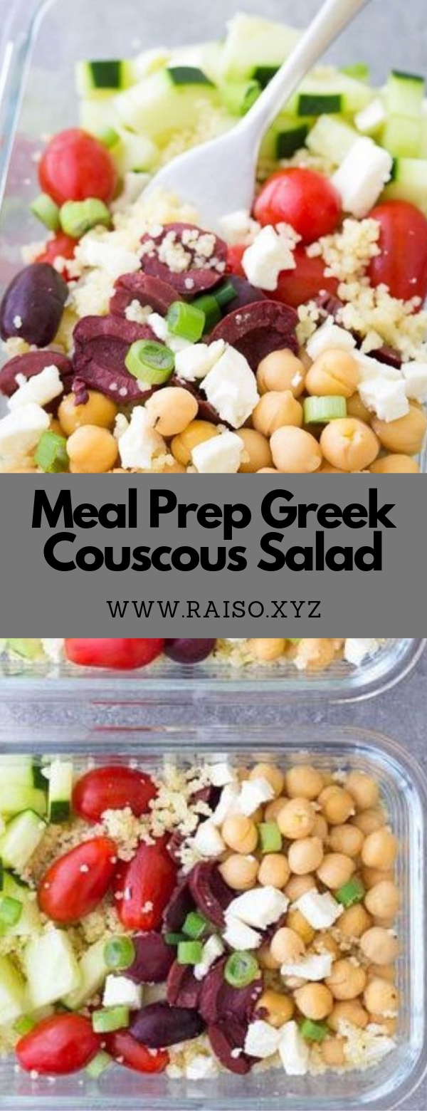 Meal Prep Greek Couscous Salad #salad #lunch #sidedish