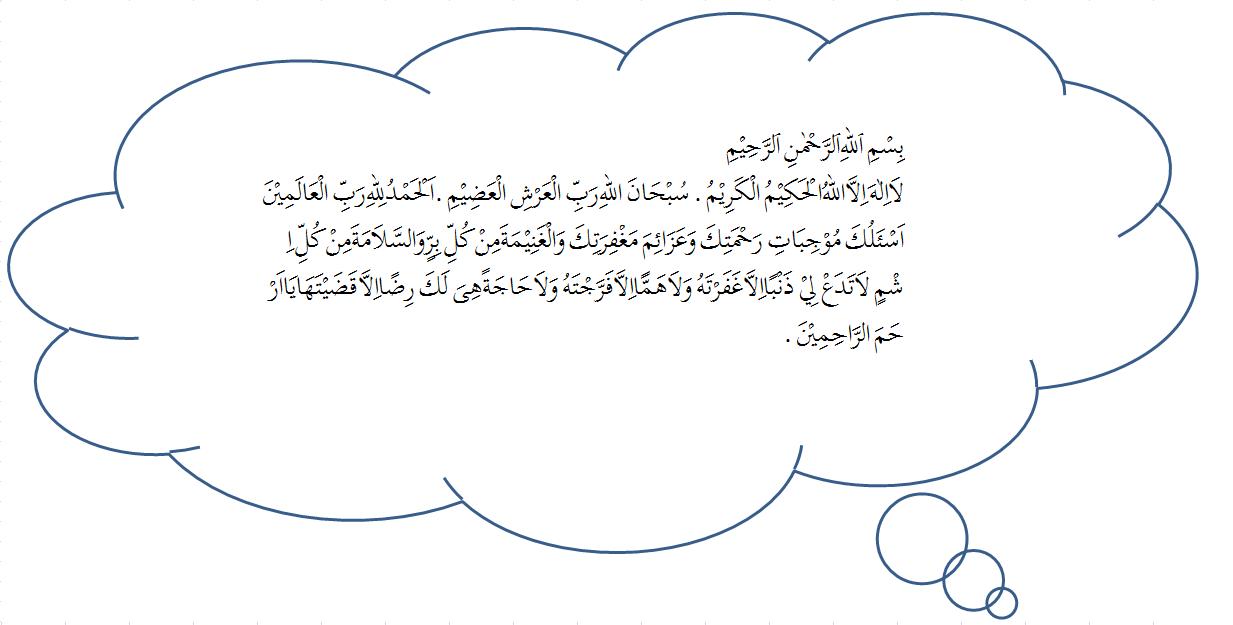 Dilanjutkan dengan membaca Do'a berikut
