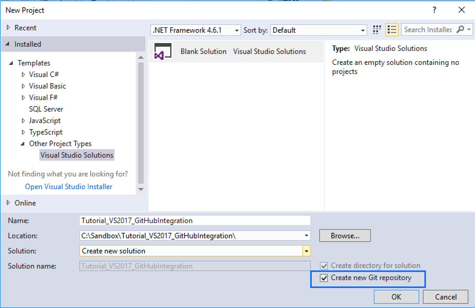 Integrating GitHub on Visual Studio 2017 : Your First Repo