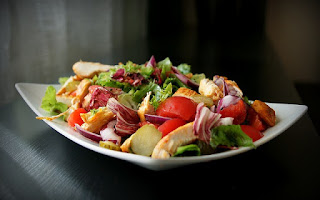Ensalada de hojas y verduras