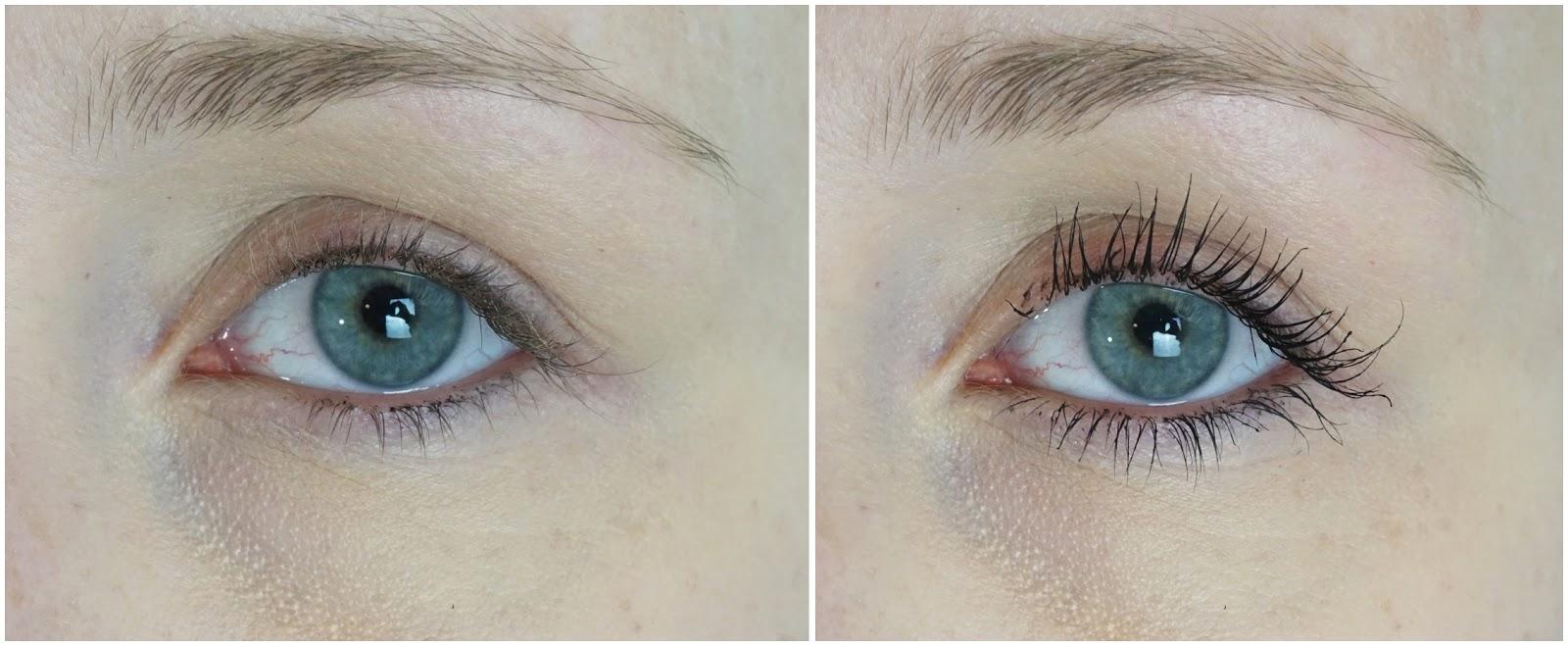 Alverde - Mascara Schwung + Präzision Auge Vorher nachher