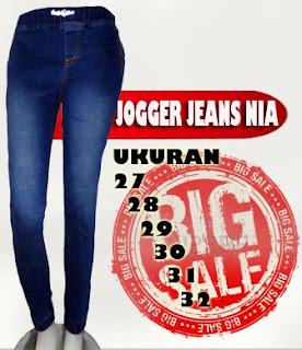 Jual online dengan harga murah celana jogger jeans wanita kualitas terbaik