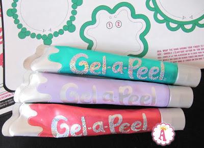 Разноцветные тюбики с гелем для 3d дизайна Gel a Peel MGA
