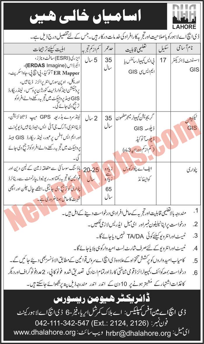 Latest Jobs in DHA Lahore 19 May 2019