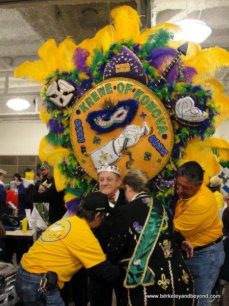 behind the scenes at Mardi Gras Royal Gala in Lake Charles, Louisiana