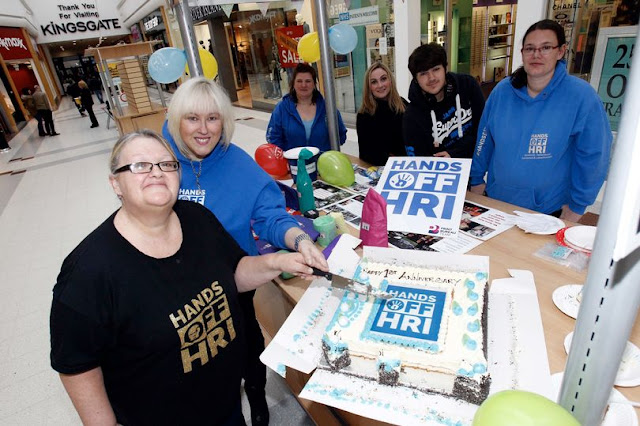 Hands Off HRI campaigners are celebrating their first anniversary - and bid to carry on their fight!