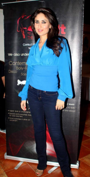 Kareena Kapoor Beautiful Stills In Blue Dress