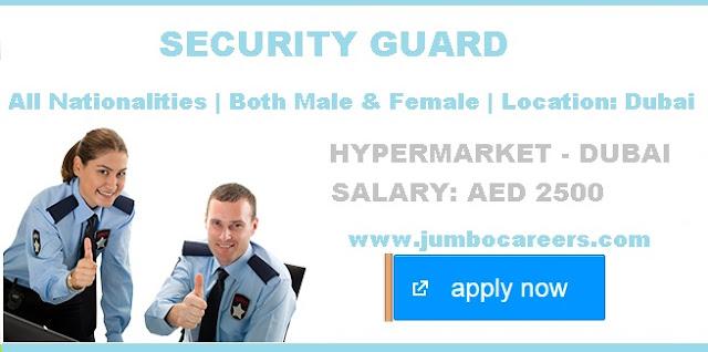 Security guard salary in Dubai 2018