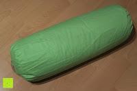 Erfahrungsbericht: Rundes Yoga Bolster »Krishna« mit Bio-Dinkelspelz (kbA) / Länge ca 68cm & Durchmesser ca 22cm - ideal als Yogakissen / Zafukissen / Meditationskissen / Meditiationsunterlage - hoher Sitz-Komfort dank Dinkelspelzfüllung / maschinenwaschbar & hautfreundlich. Ideale Hilfsmittel / Accessoire (Sitzkissen) für längere Meditationen. Material : 100% Baumwolle