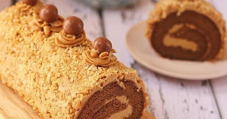 Resep Bolu Jadul Ny Liem: Resep Mocca Nougat Roll Cake Lembut Ny Liem