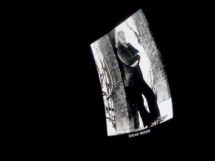 Edgar Froese sous le dôme du planétarium de Bochum, Schallwelle Awards 2015 / photo S. Mazars