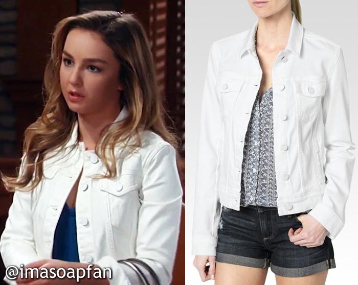 Kristina Davis, Lexi Ainsworth, White Denim Jacket, General Hospital, GH