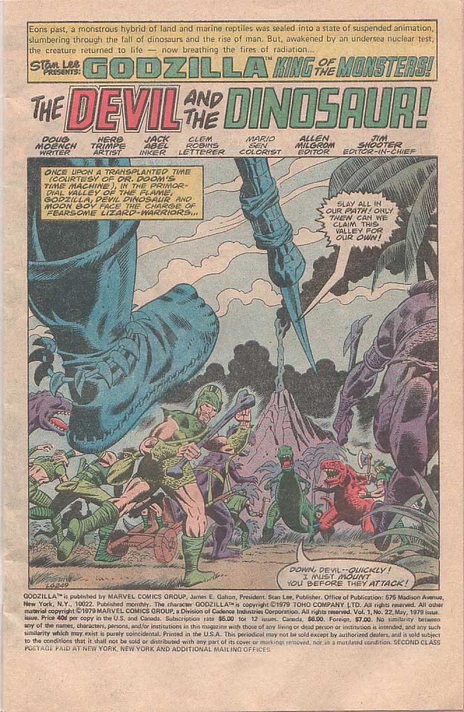 Godzilla (1977) Issue #22 #22 - English 2
