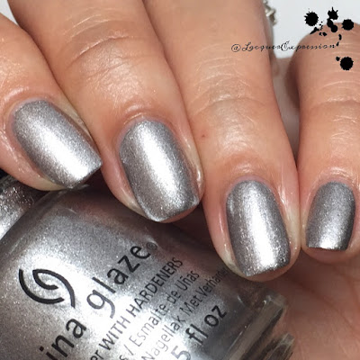 Nail polish swatch of Silver Fox by China Glaze
