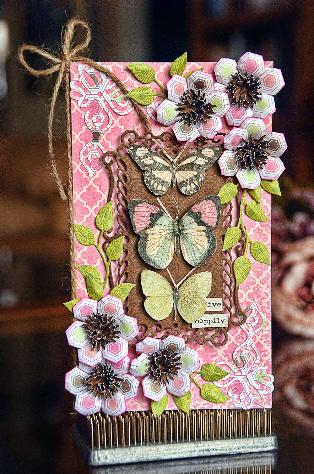 Butterfly Card by Lisa Gregory for BoBunny using Primrose.
